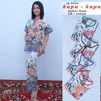 Setelan kaos batik pekalongan / baby doll murah / baju tidur wanits