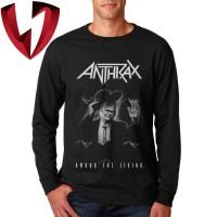 Kaos Band Metal Lengan Panjang - Anthrax Among The Living