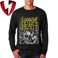 Kaos Band Metal Lengan Panjang - Napalm Death