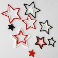hiasan dinding bintang star 3d bahan kayu