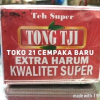 Tong Tji Teh Super TUBRUK 80 g Extra Harum Hijau Melati Jasmine Serbuk
