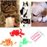Silikon soft Kuku palsu kucing anjing cantik murah 20 kuku