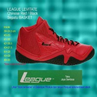 bola basket online Sepatu Basket LEAGUE LEVITATE Black Red bursa bola