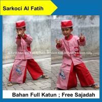 Baju Anak Muslim Sarkoci Anak Sarung Celana Koko Peci Sajadah Merah