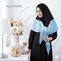 Jilbab Segi tiga rubiah instan blue