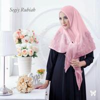 Jilbab Segi tiga rubiah instan pink
