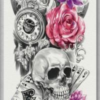 Tato/Tatto temporary/Tatto Temporer/ tatto design terbaru17x46 TQB014