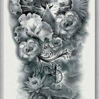 Tato/Tatto temporary/Tatto Temporer/ tatto design terbaru17x46 TQB003
