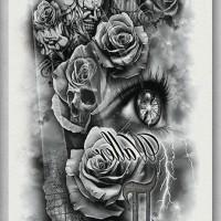 Tato/Tatto temporary/Tatto Temporer/ tatto design terbaru17x46 TQB002