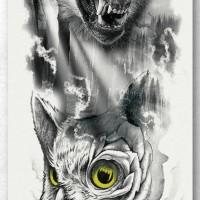 Tato/Tatto temporary/Tatto Temporer/ tatto design terbaru17x46 TQB013
