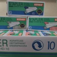 Stapler kecil, tipe HD-10, merk Kenko - 1 pak berisi 1 lusin