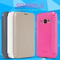 Flip Case Nillkin Samsung J1 2016 Sparkle Leather Case
