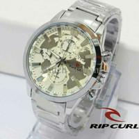 Jam Tangan Pria / Cowok Ripcurl World Rantai Silver White