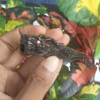 pipa rokok TALI ARUS black coral ukir naga