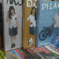 Novel Paket 3 buku DILAN 1 & 2 dan MILEA