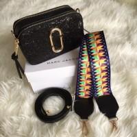 Tas Wanita Fashion Hand bag Tas Selempang Marc Jacob Glitter Free Box