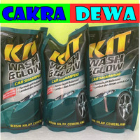 KIT Shampoo Body Motor MOBIL Wash & Glow kemasan Isi ulang 800 ml