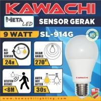 Bohlam Meta LED Sensor Gerak Hemat Energi 9 Watt Kawachi type SL-914G