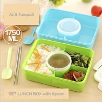 Microwavable! Anti Tumpah Lunch Box / Kotak Makan Anak / BPA FREE