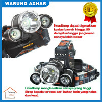 Senter Kepala / Lampu / Headlamp Cree XM-L T6 5000 Lumens High Power