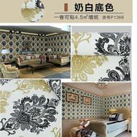 Batik vintage BW 45cm x 10mtr ~ Wallpaper sticker dinding