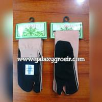 [Grosir Min.6pcs] Kaos kaki jempol NSL Tonio coklat telapak hitam