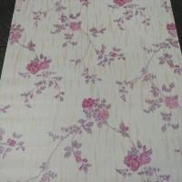 Flower Rose Gradasi Purple 45cm x 10mtr ~ Wallpaper sticker dinding