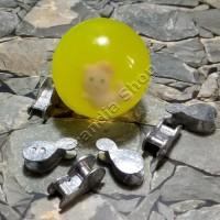 (Murah) Set bola bekel dan 6 pit / biji timah mainan jadul 90an