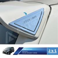 New Agya 2017 Spoiler Ornament Chrome / Aksesoris Toyota Agya