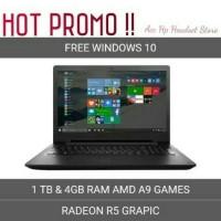 Laptop Lenovo Ideapad 110 14AST RAM 4GB HDD 1TB AMD A9 REDEON R5
