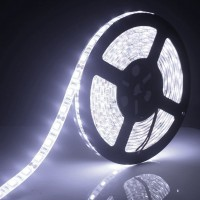 LED Strip Flexible 5050 Putih 300 LED / Roll 12V Waterproof 5 Meter