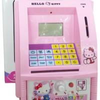 Mainan Edukatif / Edukasi Anak Celengan ATM Bank Mini Hello Kitty Uang
