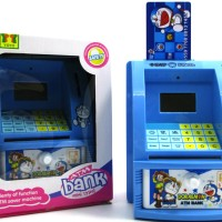 Mainan Edukatif / Edukasi Anak - Celengan ATM Mini Happy Bank Doraemon