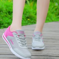 Sepatu Kets Wanita Casual SDS228 Abu-Pink