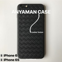 iPhone 6 6S 6G BLACK ANYAMAN WOVEN TPU SOFT JELLY CASE CASING COVER