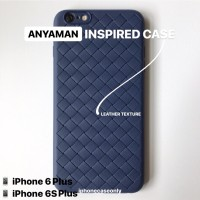 iPhone 6 6S PLUS BLUE ANYAMAN WOVEN TPU SOFT JELLY CASE CASING COVER