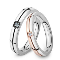 Cincin Couple Line Rose Black Titanium free Ukir Nama free Box Beludru