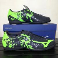 Sepatu Futsal Mizuno Ryuou IN Black Green P1GF179037 Original