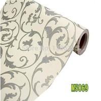 Damask classic 45cm x 10mtr ~ Wallpaper sticker dinding