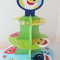cupcake stand baby shark / rak cupcake 3 tier cupcake baby shark