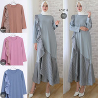 gamis frill layer