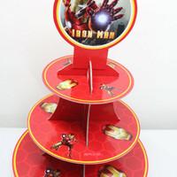 Cupcake stand iron man / rak cupcake 3 tier iron man avengers