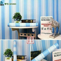 Stripe Blue 45cm x 10mtr ~ Wallpaper sticker dinding