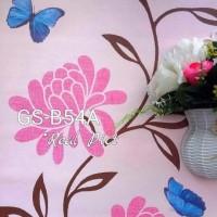Kupu-kupu kembang 45cm x 10mtr ~ Wallpaper sticker dinding