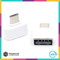 Mini OTG Adapter Micro USB ke USB Female - White