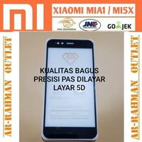 XIAOMI MIA1 MI A1 5X MI5X tempered glass warna color full 4D curved 9H