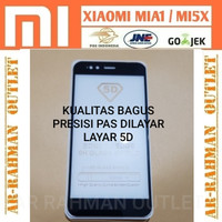 XIAOMI MIA1 MI A1 5X MI5X tempered glass warna color full 5D curved 9H
