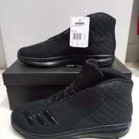 Adidas basket court fury 2016 full black AQ7751 sepatu original bnib