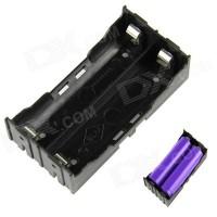 Paralel 2x 18650 Battery Holder Plat Lempengan Kotak Baterai Batere
