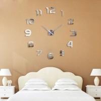 Jam Dinding Raksasa Besar DIY Diameter 80-130cm - 002BB - Silver